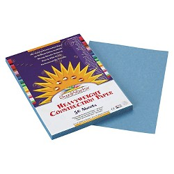 SunWorks® Construction Paper, 58 lbs, 9 x 12 - Blue (50 Sheets Per Pack)