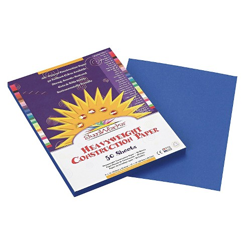 SunWorks® Construction Paper, 58 lbs, 9 x 12 - Blue (50 Sheets Per Pack) - image 1 of 1