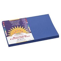SunWorks® Construction Paper, 58 lbs, 12 x 18 - Blue (50 Sheets Per Pack)