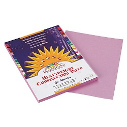 SunWorks® Construction Paper, 58 lbs, 9 x 12 - Lilac (50 Sheets Per Pack)