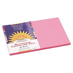 SunWorks® Construction Paper, 58 lbs, 12 x 18 - Pink (50 Sheets Per Pack)