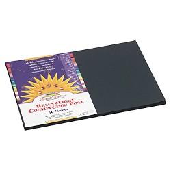 SunWorks® Construction Paper, 58 lbs, 12 x 18 - Black (50 Sheets Per Pack)
