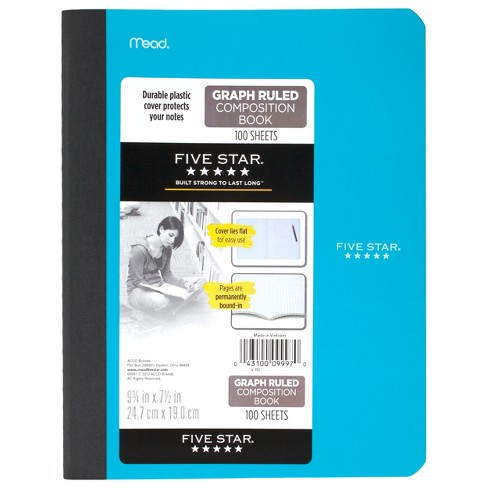 composition notebook graph ruled 975x 75 five star