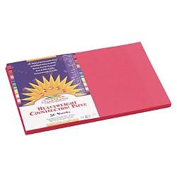 SunWorks® Construction Paper, 58 lbs., 12 x 18, Scarlet - 50 Sheets Per Pack