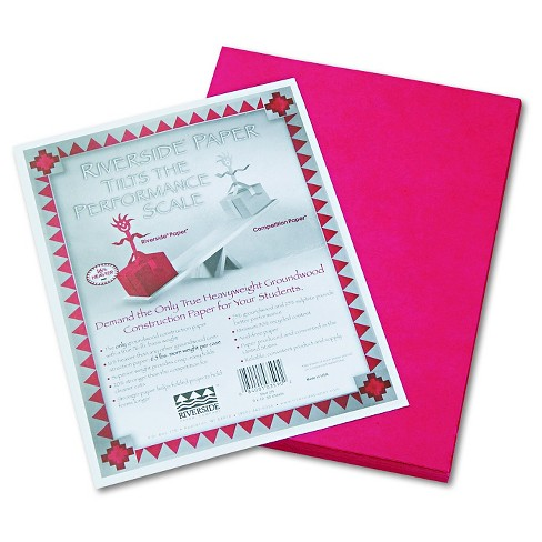 Pacon® Riverside Construction Paper, 76 lbs., 9 x 12 - Red (50 Sheets Per Pack) - image 1 of 2