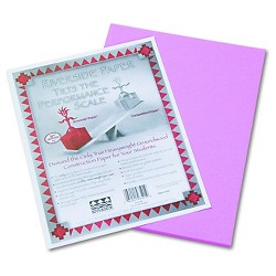Pacon® Riverside Construction Paper, 76 lbs., 9 x 12 - Pink (50 Sheets Per Pack)