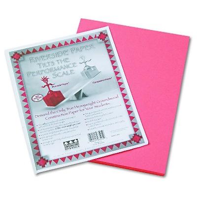 Pacon® Riverside Construction Paper, 76 lbs., 9 x 12 - Orange (50 Sheets Per Pack)