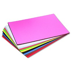 Pacon® Riverside Construction Paper, 76 lbs., 18 x 24 - Multi-Colored (50 Sheets Per Pack)