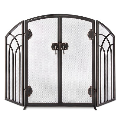 fold black height hearth getdynamicimage width fireplace screens path image htm iron tri screen wrought main for plow folding with doors