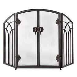 Pleasant Hearth Harper Fireplace Screen With Doors