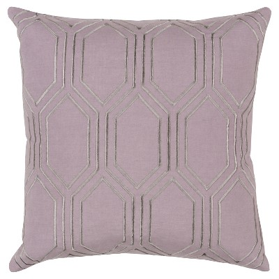 Mauve Avalon Diamond Throw Pillow 22 x22  - Surya