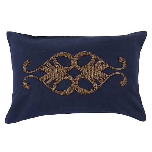 Embroidered Beads Throw Pillow - Surya - image 1 of 1