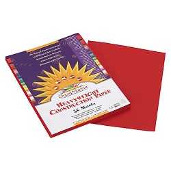SunWorks® Construction Paper, 58 lbs., 9 x 12 - Red (50 Sheets Per Pack)
