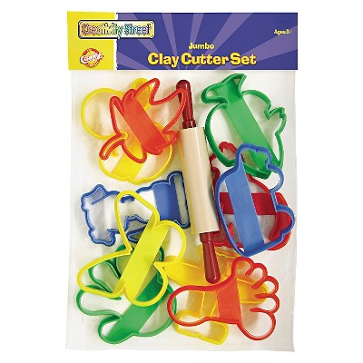 Creativity Street® Clay Cutter Set, Rolling Pin and 10 Cutters