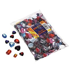 Chenille Kraft® Gemstones Classroom Pack), Acrylic, 1 lbs - Multi-Colored