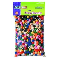 Creativity Street® Pony Beads, Plastic, 6mm x 9mm - Multi-Colored (1000 Per Pack)