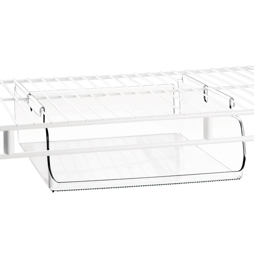 InterDesign Tru-Grasp Under-the-Shelf Hanging Bin – Clear (Large)