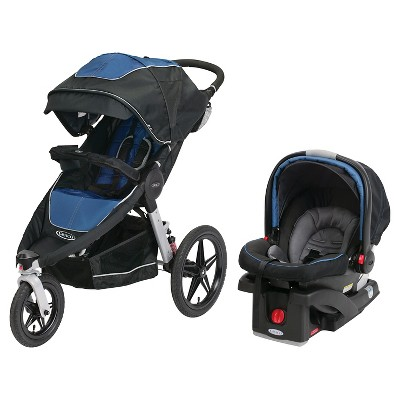 Graco Relay Click Connect Jogging Travel System - Jaguar