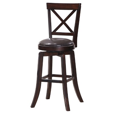 Gibson X-Back Swivel Bar Stool Wood/Brown - Steve Silver Co.  sc 1 st  Target & Gibson X-Back Swivel Bar Stool Wood/Brown - Steve Silver Co. : Target islam-shia.org
