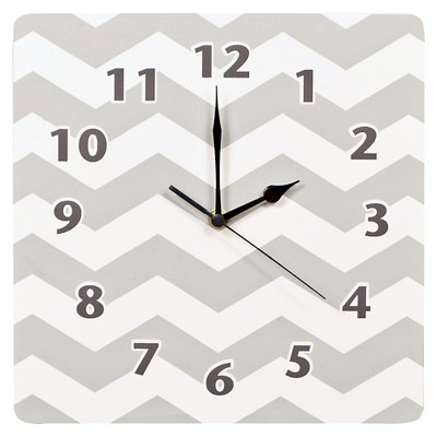 Chevron Decorative Clock Gray