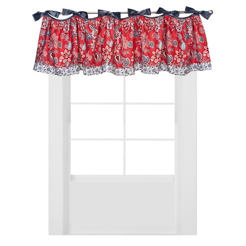 Trend Lab Window Valance - Red Flowers - image 1 of 2
