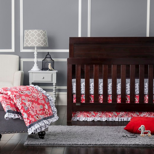 mini crib decor floral baby bedding target