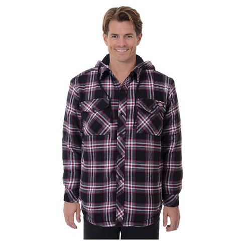 Dickies® - Men's Sherpa Lined Hooded Flannel Shirt Jacket - image 1 of 2