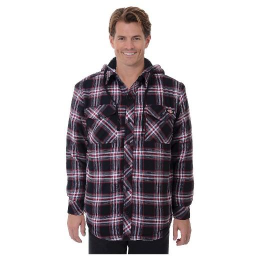 Dickies® - Men's Sherpa Lined Hooded Flannel Shirt Jacket : Target