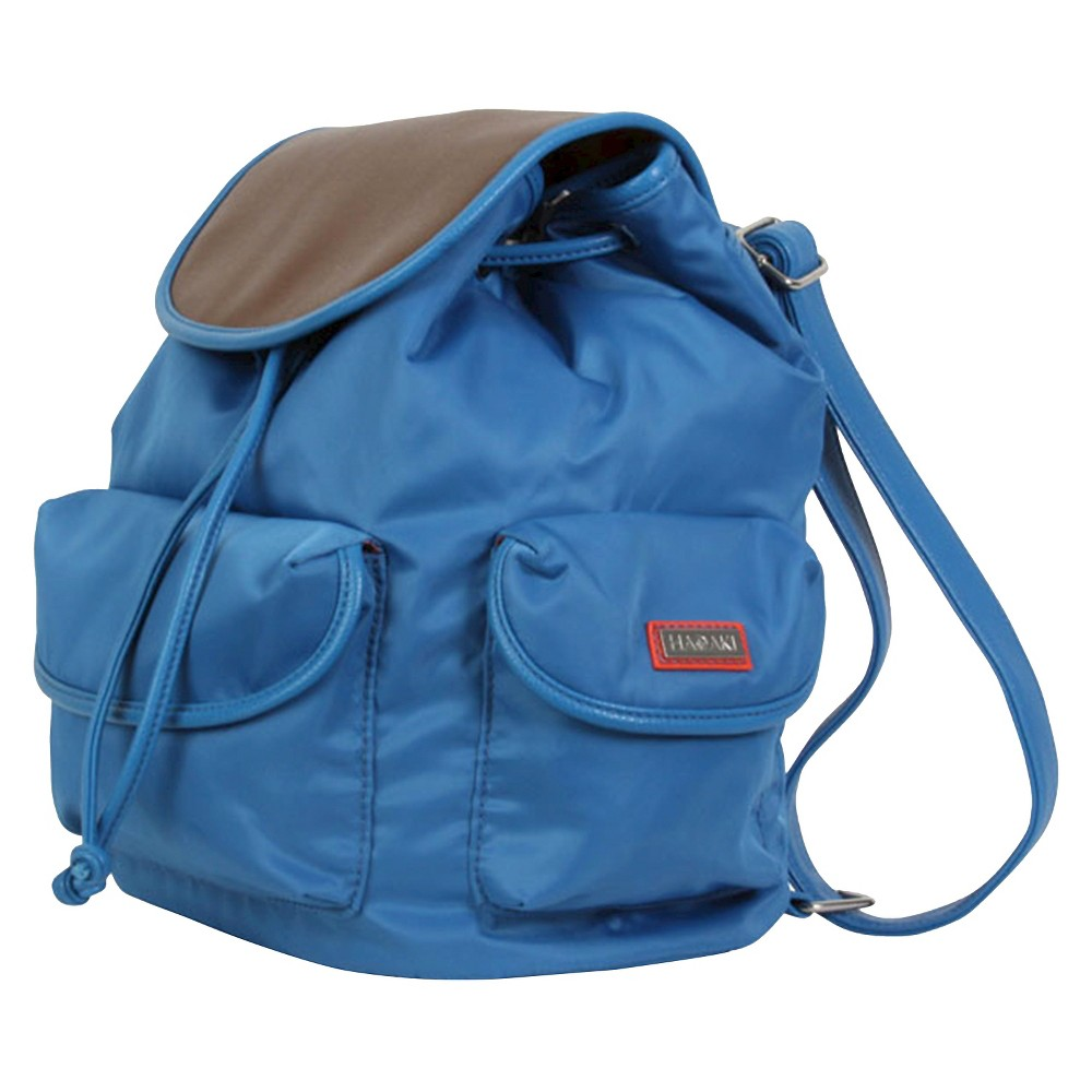 Womens Nylon Backpack Handbag, Blue