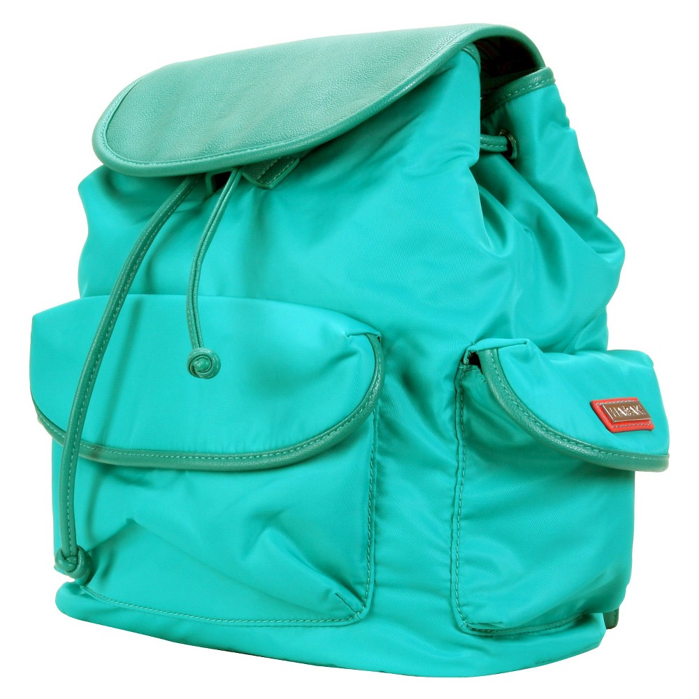 Womens Nylon Backpack Handbag, Vivid Teal
