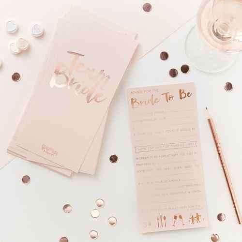 """Advice For the Bride to Be"" Wedding Card Gold"