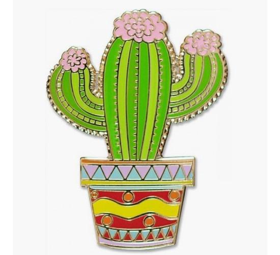 Cactus Hard Enamel Cloisonne Pin Set (Accessory)