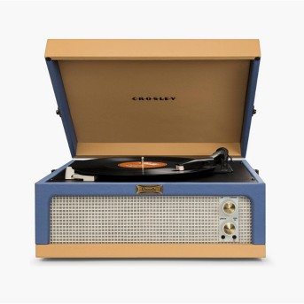 Crosley Dansette Junior Portable Record Player - Blue / Tan