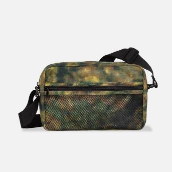Men's Camo Print Corduroy Crossbody Bag - Original Use™ Green