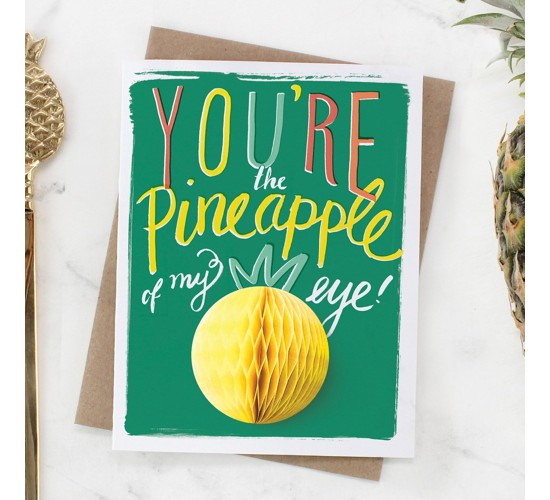 Inklings Paperie® Pineapple/Peach/ Apple Pop-up Greeting Cards - 3 ct