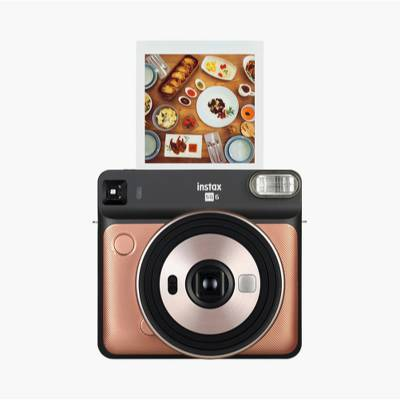 Fujifilm Instax SQ6 Instant Camera - Blush Gold