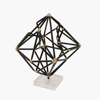 Decorative Sculpture - Black/Gold/White - Olivia & May