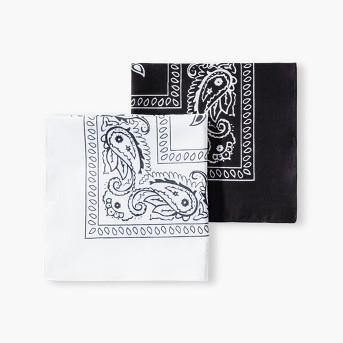 Men's Bandanas - Goodfellow & Co™ White/Black One Size