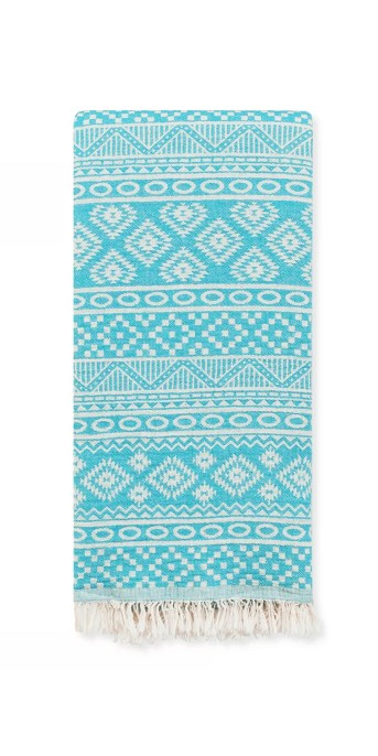 Sea Breeze Pestemal Beach Towel Turquoise - Linum Home Textiles®