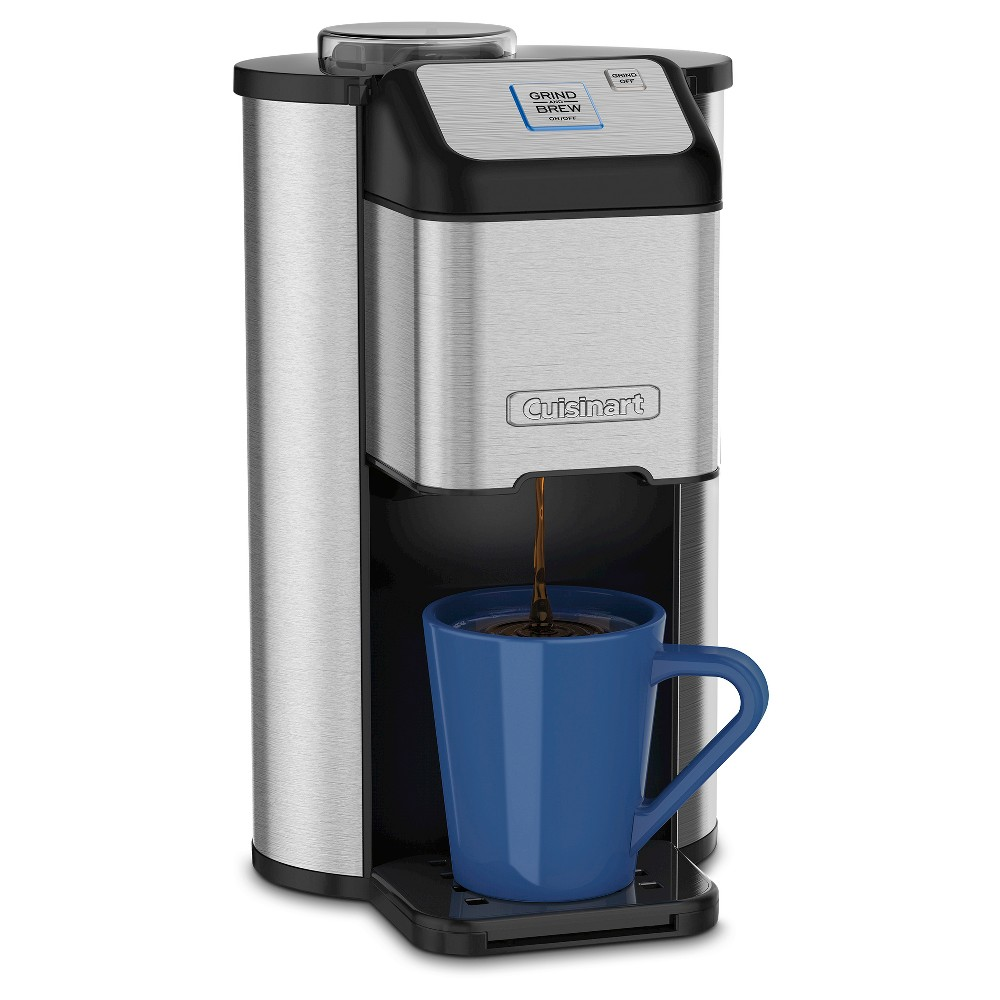 Cuisinart Single Cup Grind & Brew Coffee Maker - Stainless Steel Dgb-1, Black/Grey