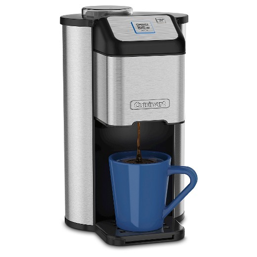 One Cup Stainless Steel Coffee Maker : Cuisinart Single Cup Grind & Brew Coffee Maker - Stainless Steel DGB-1 : Target