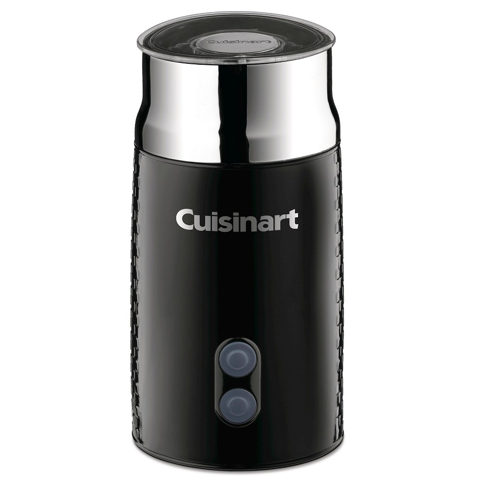 Cuisinart Tazzaccion Milk Frother - Stainless Steel Fr-10, Black/Shiney Silver