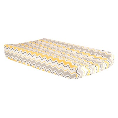 Trend Lab Changing Pad Covers - Gray & Yellow Zig Zag