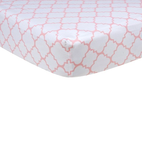 Baby Fitted Sheet Trend Lab White - image 1 of 2