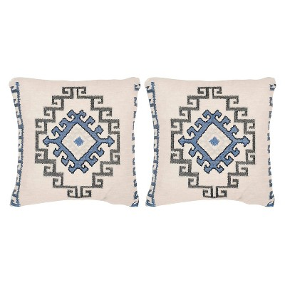 'Blue On Sy S/2 Throw Pillow (20''x20'') - Safavieh, Arizona Blue'