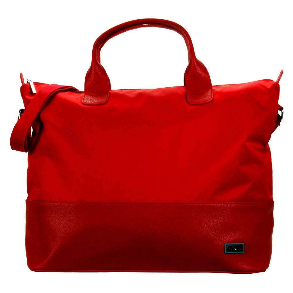 Womens Hamptons Nylon Weekender Handbag, Red Floral