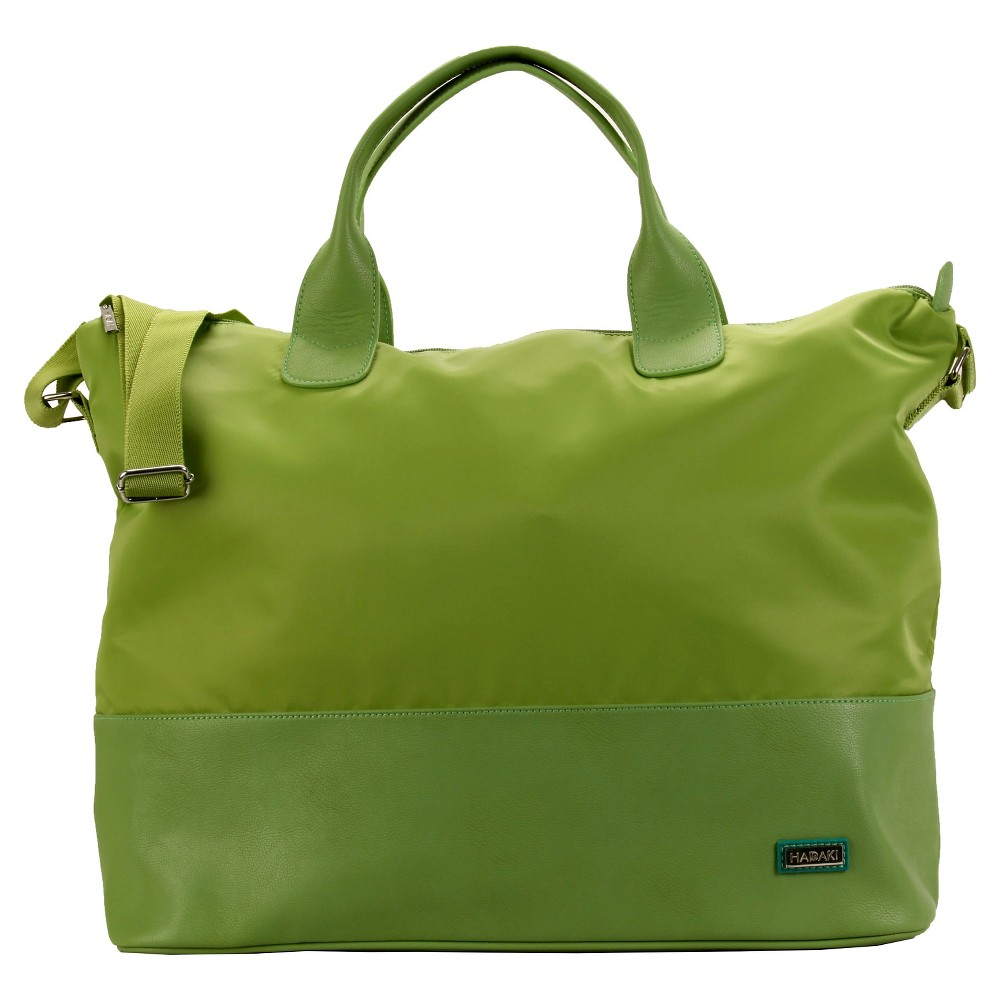 Womens Hamptons Nylon Weekender Handbag, Green Light