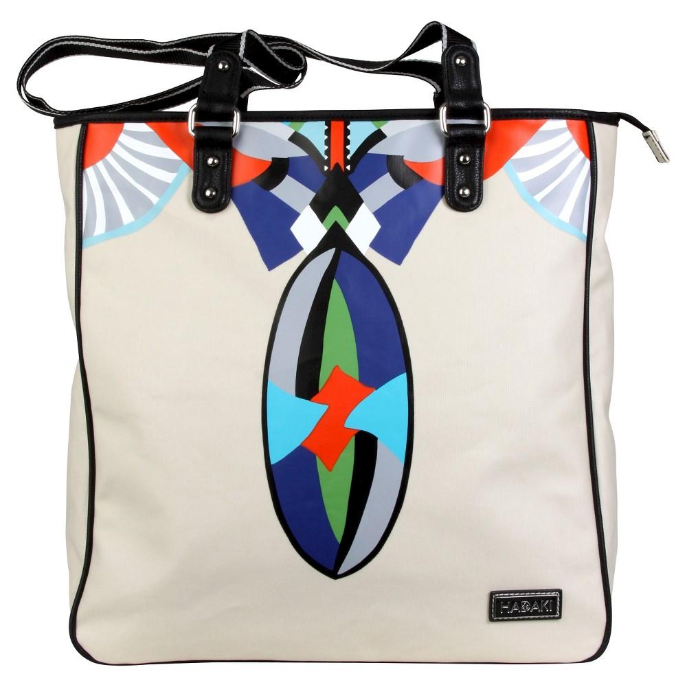 Womens Nylon City Tote Handbag, Blue/Multi-Colored