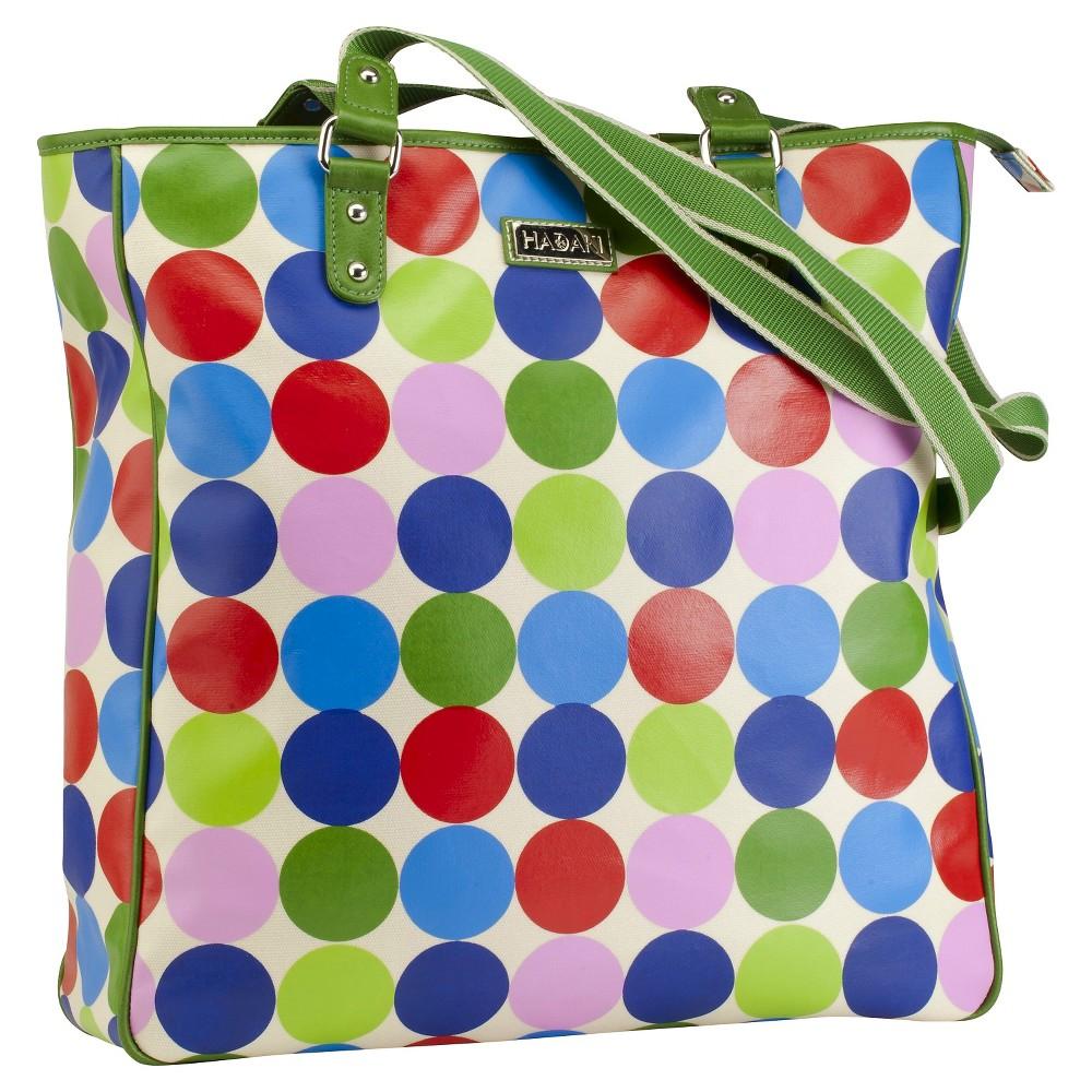 Womens Nylon City Tote Handbag, Multi-Colored/Red/Apple Green/Bright Blue