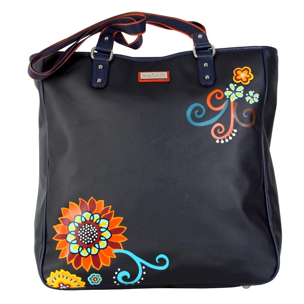Womens Nylon City Tote Handbag, Multi-Colored/Orange/Yellow